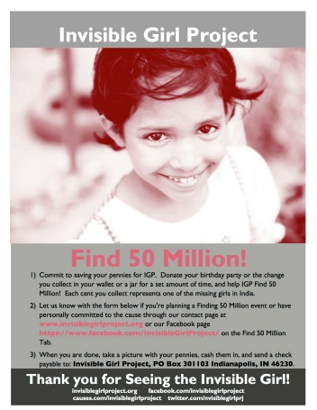 Find 50 Million  Campaign Flyer